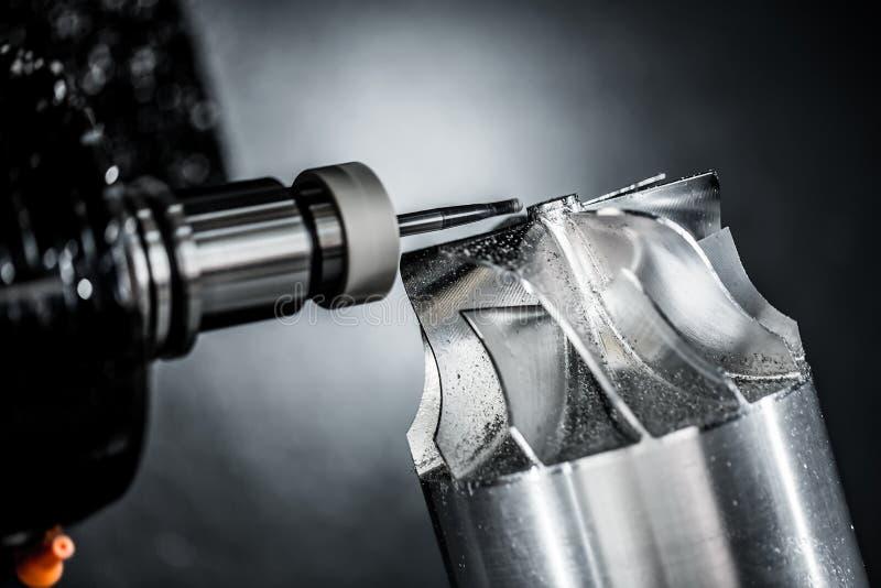 Fräsmaschine Metallverarbeitung CNC stockbilder