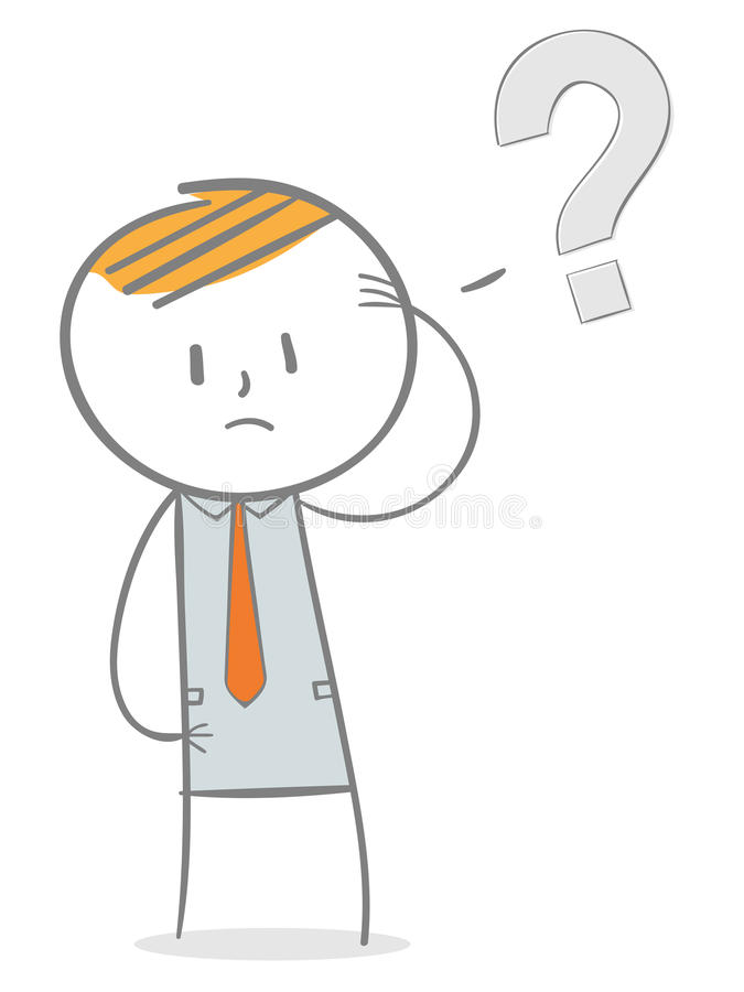 Fråga vektor illustrationer