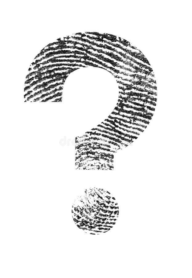 Fråga av identiteten arkivfoton