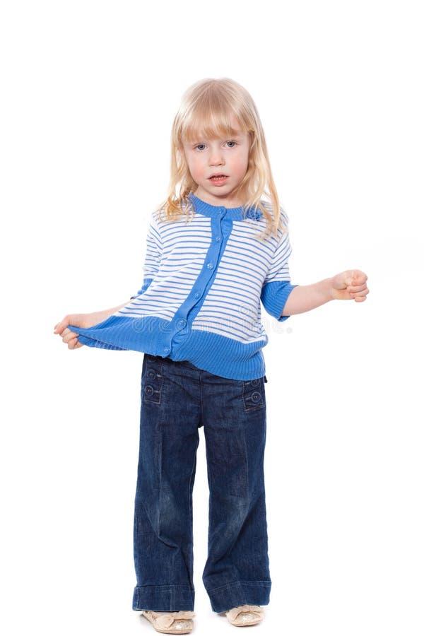 Download Fråga blygt härligt barn fotografering för bildbyråer. Bild av glädje - 19797697
