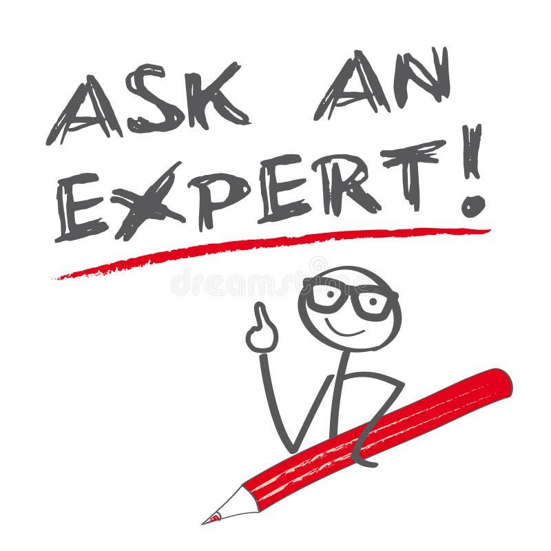 Fråga en expert stock illustrationer
