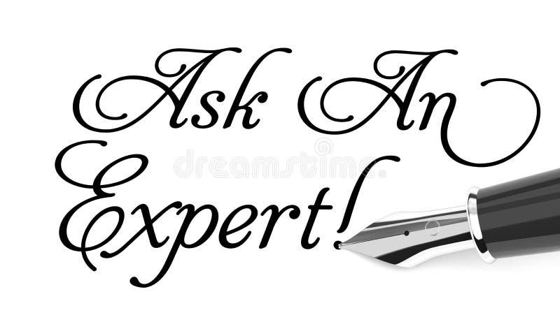 Fråga en expert royaltyfri illustrationer