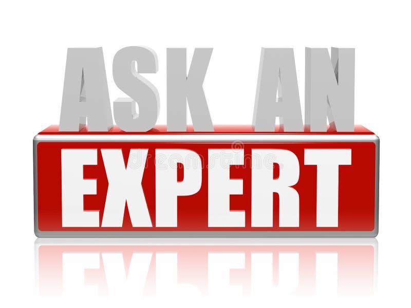 Fråga en expert i bokstäver 3d och blockera stock illustrationer