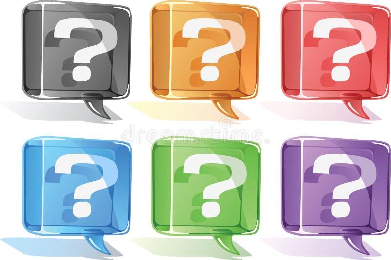 fråga för ballongsymbolsfläck stock illustrationer