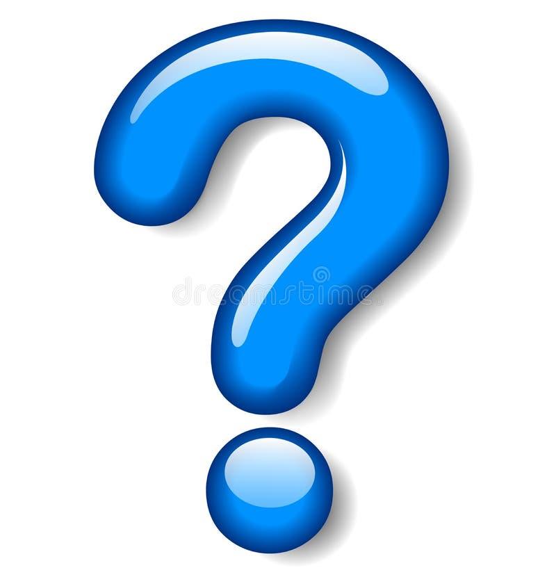 fråga för blå fläck royaltyfri illustrationer