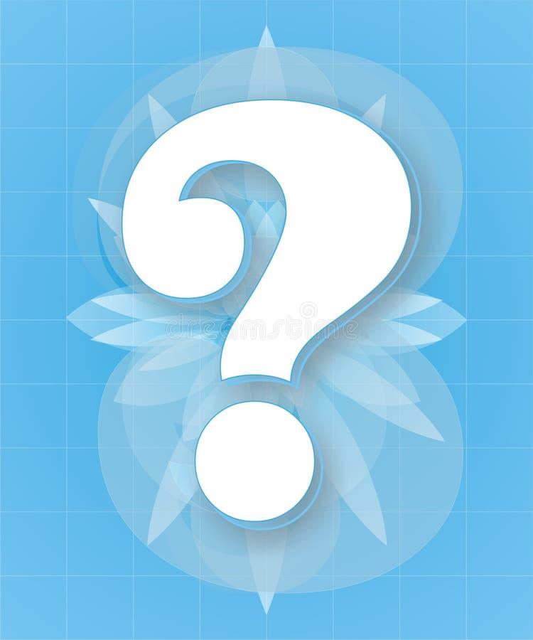 fråga för blå fläck royaltyfri foto