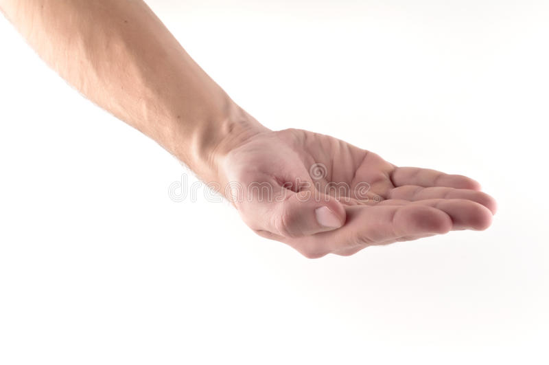 fråga handen royaltyfri foto