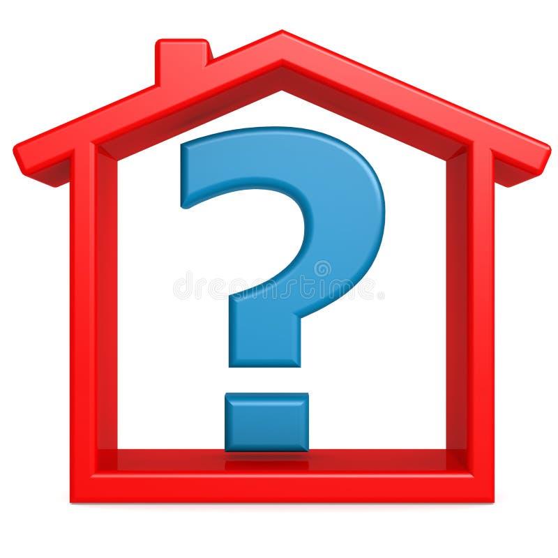 Fråga i det röda huset vektor illustrationer