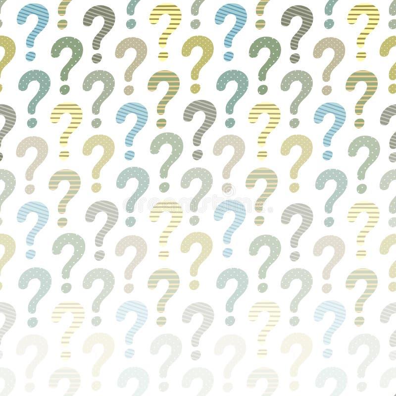 Fråga Mark Background stock illustrationer