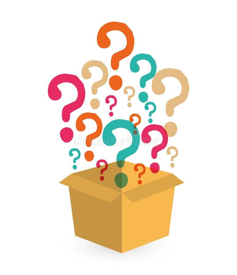 Fråga och lösningar royaltyfri illustrationer