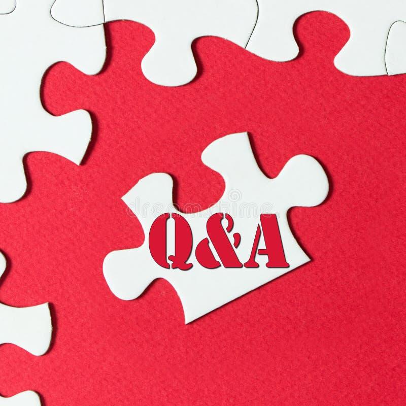 Fråga och svar royaltyfri bild
