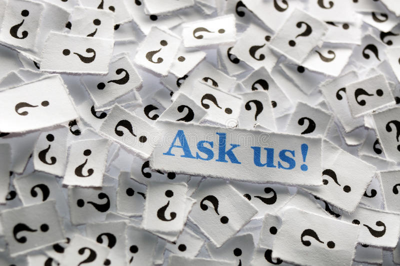 Fråga oss arkivfoton