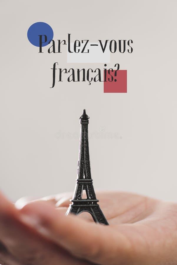 Frågan talar du franska? i franskt royaltyfria foton