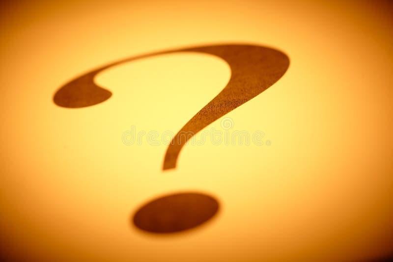 Frågefläck arkivbild