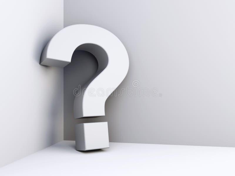 Frågefläck stock illustrationer