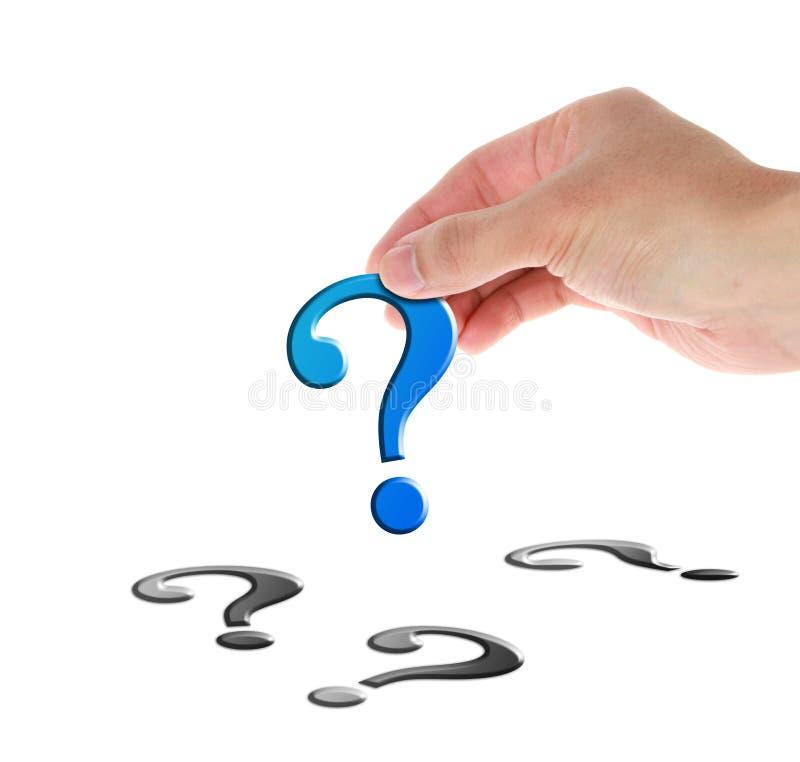 Frågefläck arkivfoto