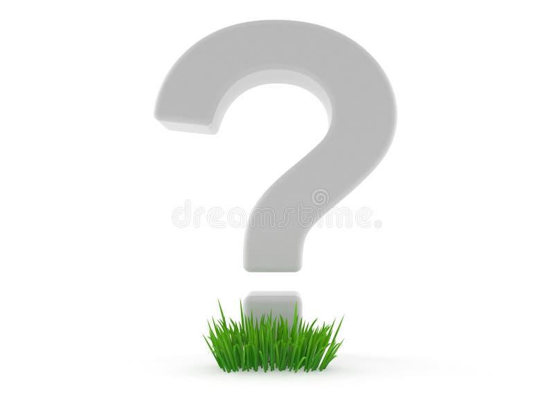 Frågefläck på gräs vektor illustrationer