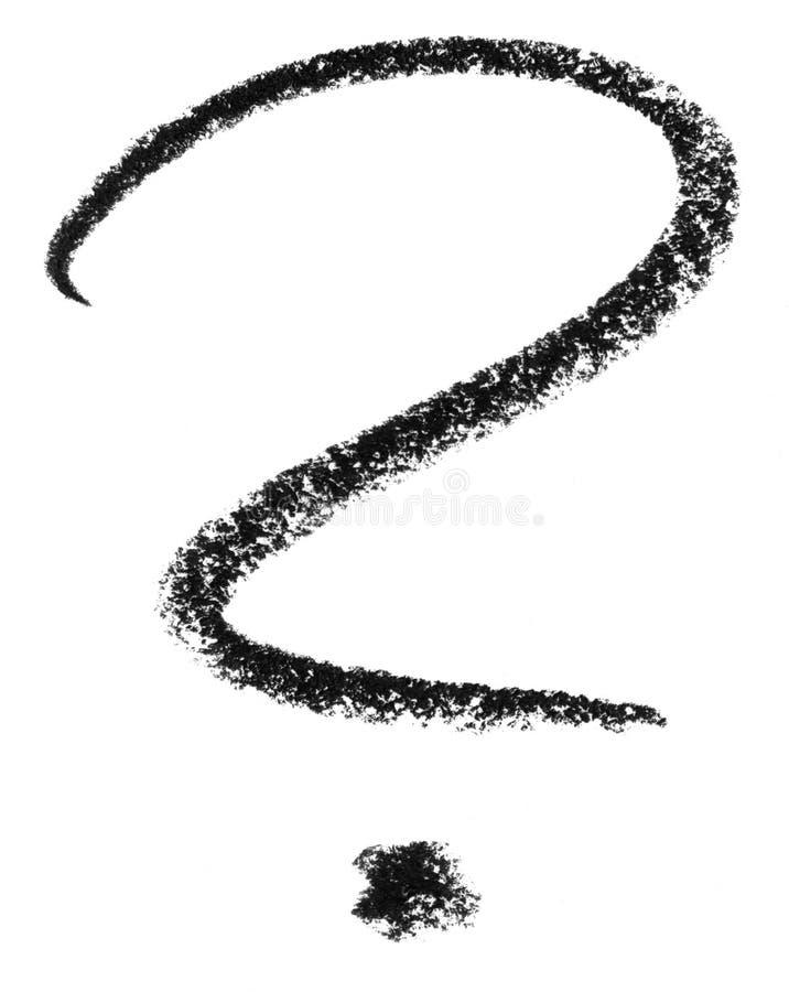 Frågefläcken skissar stock illustrationer