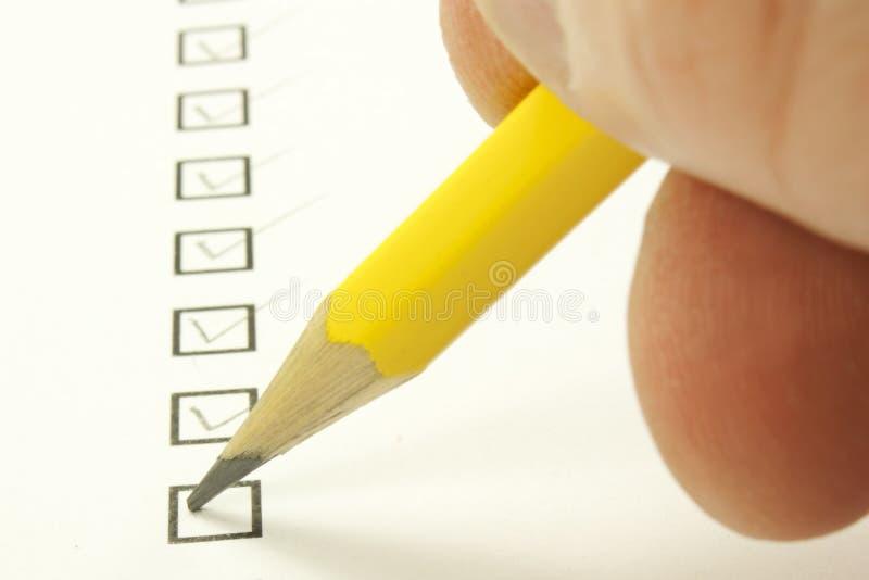 Frågeformulär arkivfoton