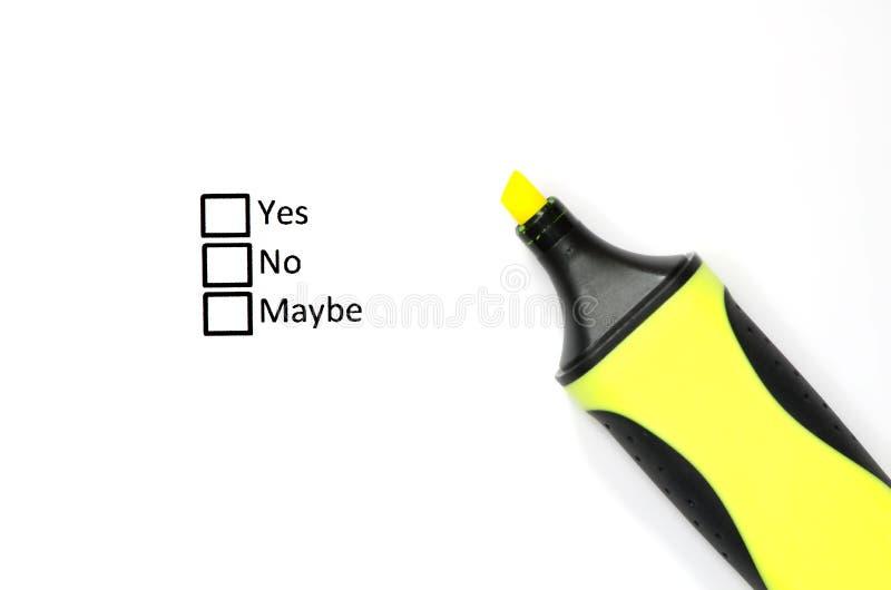 frågeformulär arkivbild