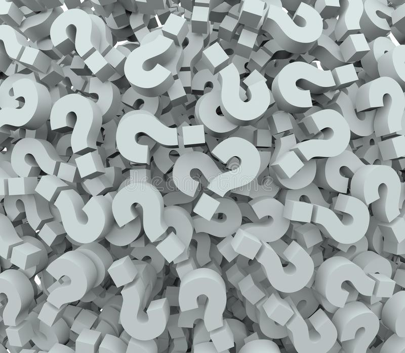 FrågeMark Background Quiz Test Learning fantasi stock illustrationer