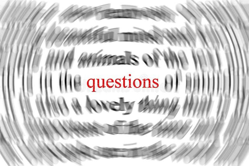 frågor vektor illustrationer