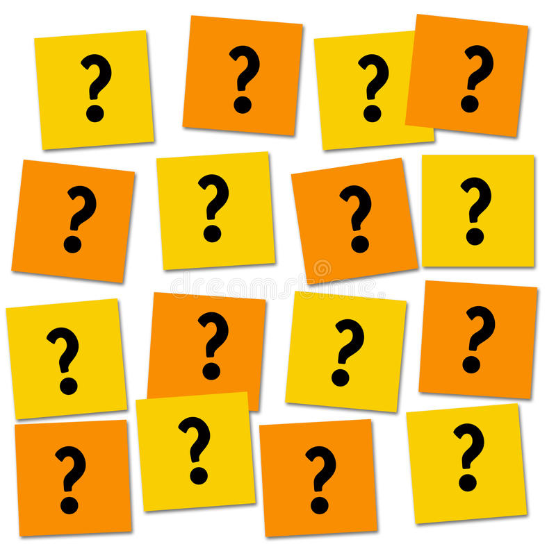 frågor royaltyfri illustrationer