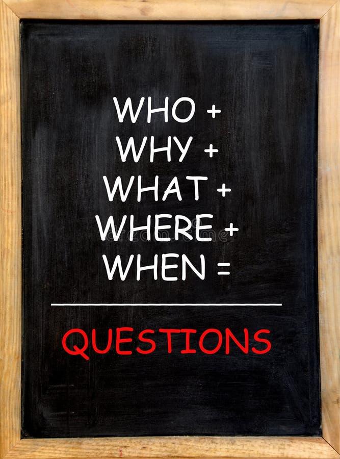 frågor arkivbilder
