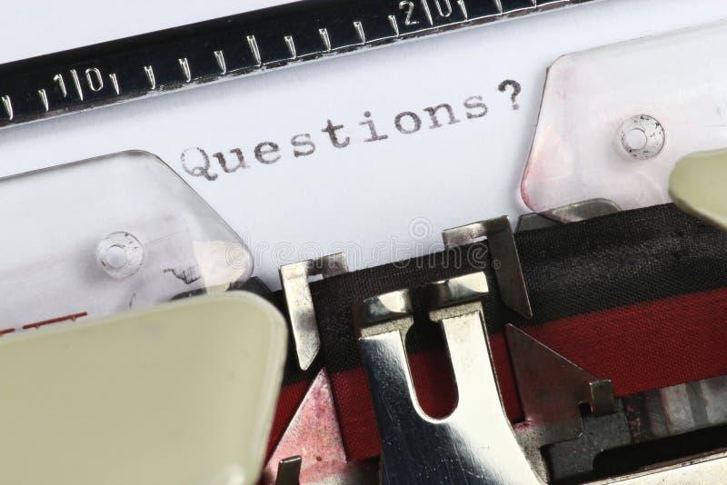 Frågor? arkivfoto