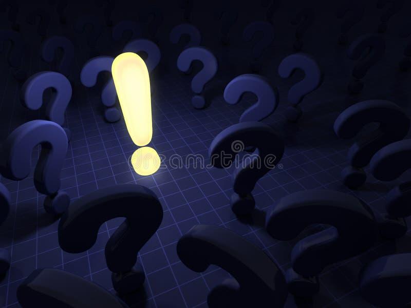 Frågor och svar stock illustrationer