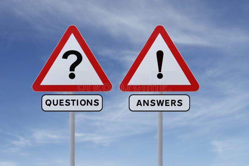 Frågor och svar arkivfoton