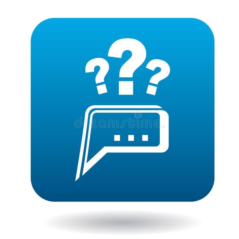 Frågor till symbolen för teknisk service, lägenhetstil vektor illustrationer