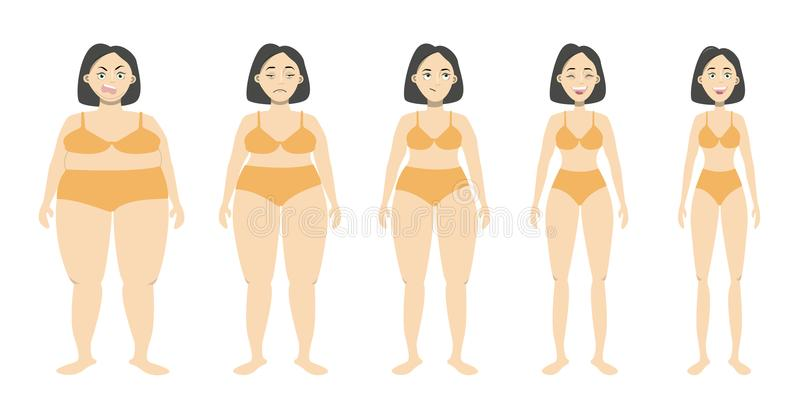 Från fett som ska passas vektor illustrationer