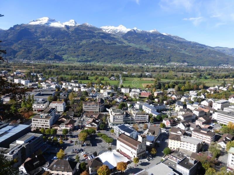 Från Liechtenstein härligt land royaltyfri bild