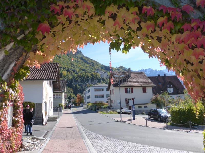 Från Liechtenstein härligt land royaltyfria foton