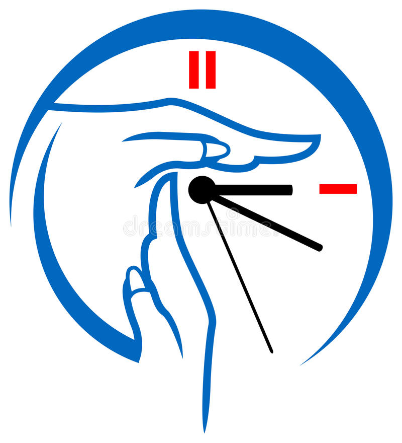 frånslagningstid för logo vektor illustrationer