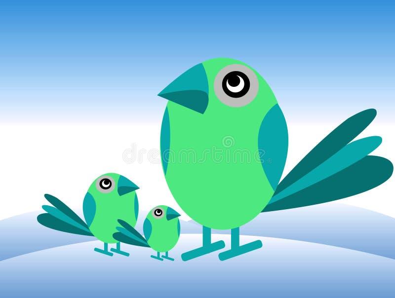 Frère de s d'oiseaux ' illustration de vecteur