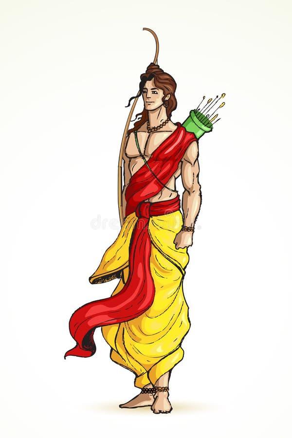 Frère de seigneur Laxman de Rama illustration de vecteur
