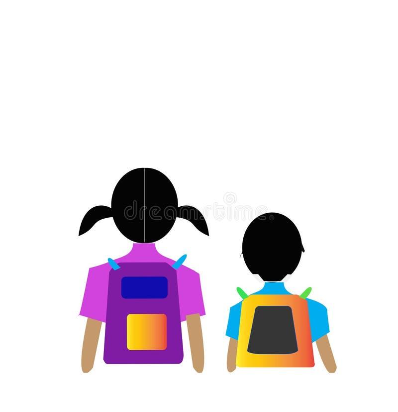 Frère et soeur d'enfants mignons illustration libre de droits