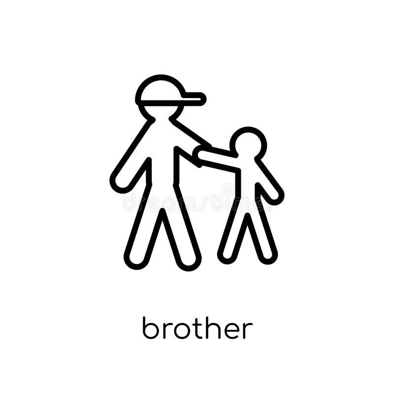 Frère Icon Icône linéaire plate moderne à la mode de frère de vecteur sur W illustration libre de droits