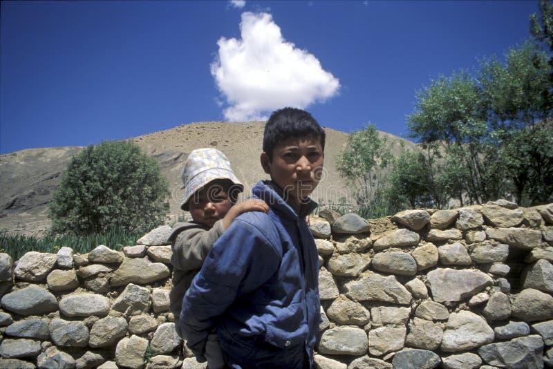 Frères de Ladakhi photographie stock libre de droits