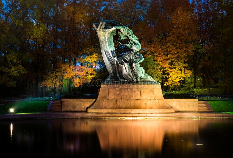 Frédéric Chopin monument in Warsaw royalty free stock photo