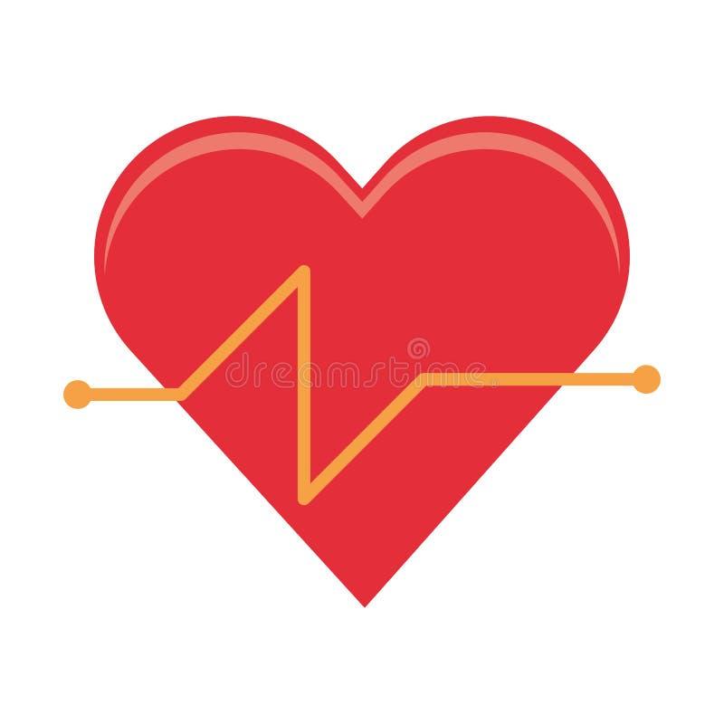 Fréquence cardiaque et coeur sain illustration stock