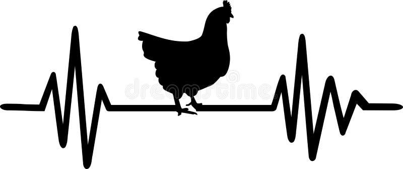 Fréquence de poule avec la silhouette de poule illustration libre de droits