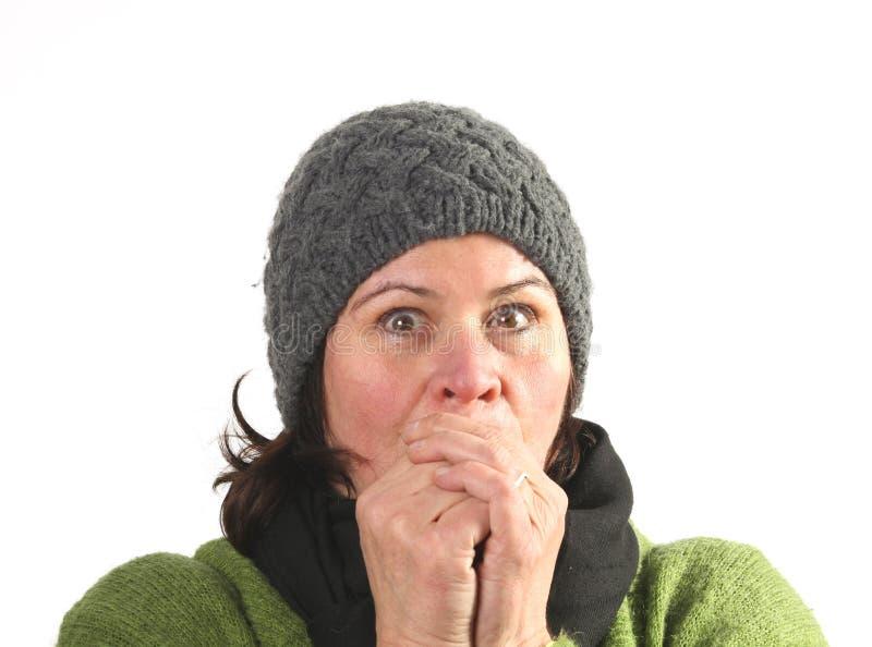 Frío de la mujer foto de archivo libre de regalías