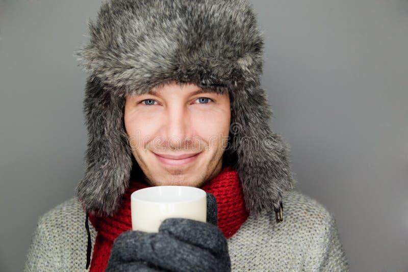 Frío de la taza del invierno fotografía de archivo libre de regalías