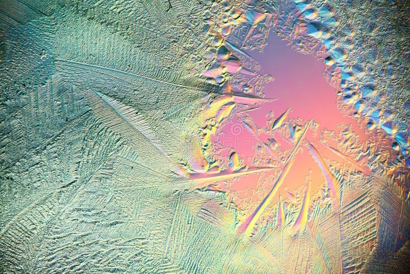 Frío roto azul macro de la textura del hielo imagen de archivo libre de regalías