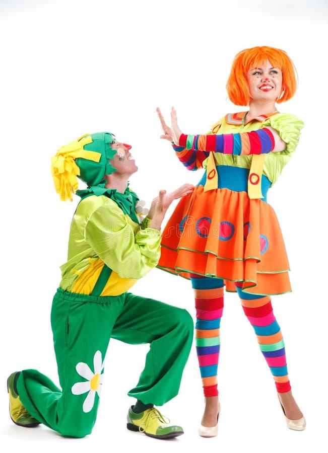 Fröhliche Clowne lizenzfreies stockfoto