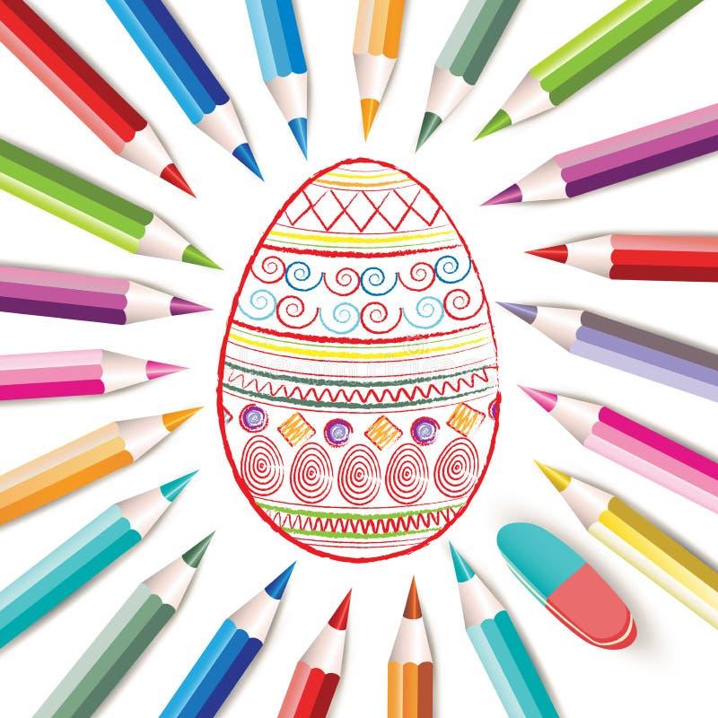 Download Fröhliche Ostern vektor abbildung. Illustration von dekorativ - 26370907