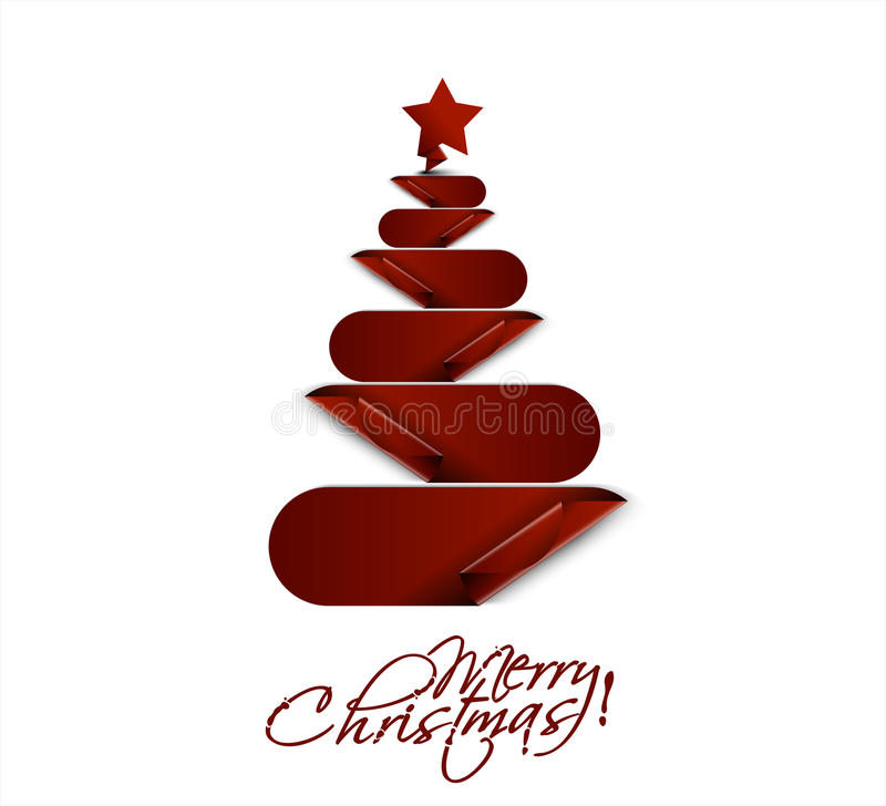 Fröhliche Weihnachtsbaumauslegung stock abbildung